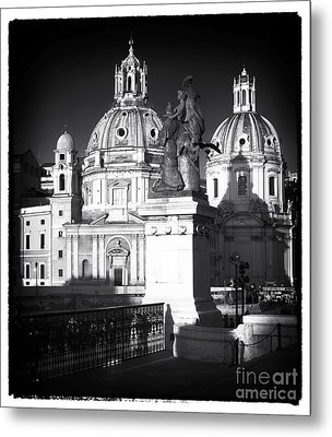 Piazza Shadows Metal Print by John Rizzuto