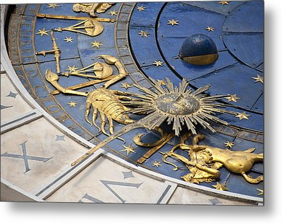 Piazza (square) San Marco, Clock Tower Detail Metal Print by Maremagnum