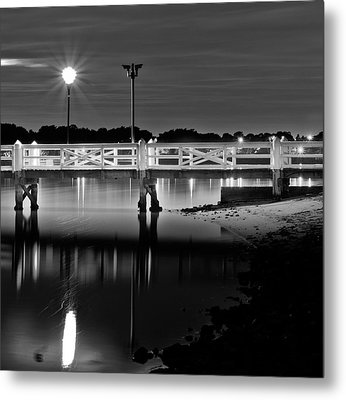 Picketted Jetty Metal Print by Mark Lucey