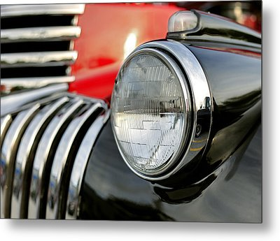 Pickup Chevrolet Headlight. Miami Metal Print