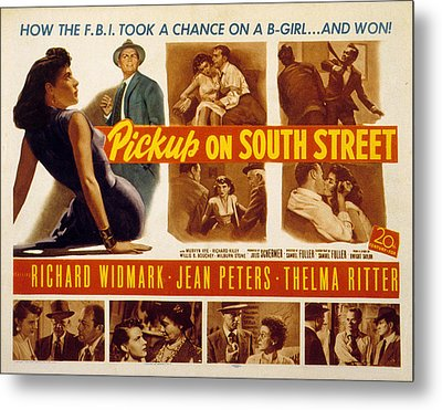 Pickup On South Street, Jean Peters Metal Print by Everett