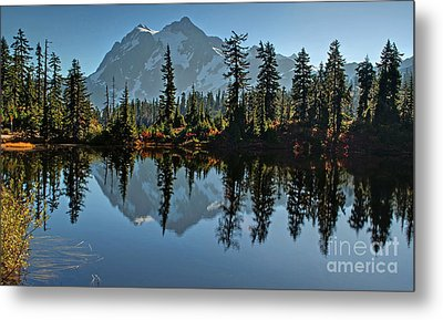 Metal Print featuring the photograph Picture Lake - Heather Meadows Landscape In Autumn Art Prints by Valerie Garner