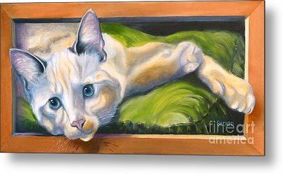 Picture Purrfect Metal Print by Susan A Becker