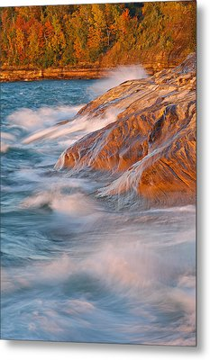 Pictured Rocks Lake Superior Metal Print by Dean Pennala
