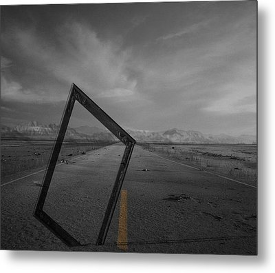 Picturing The Road Ahead Metal Print by Jerry Cordeiro