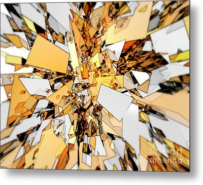 Metal Print featuring the digital art Pieces Of Gold by Phil Perkins