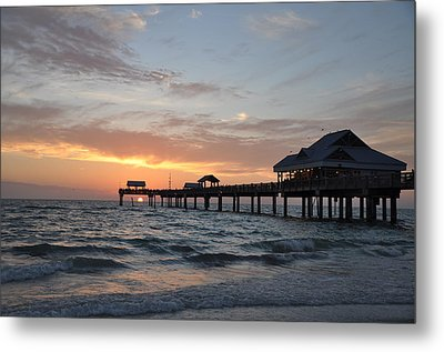 Pier 60 Clearwater Beach Florida Metal Print by Bill Cannon