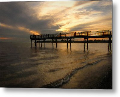 Metal Print featuring the photograph Pier  by Cindy Haggerty