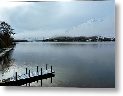 Metal Print featuring the photograph Pier On The Loch by Lynn Bolt