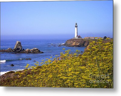 Pigeon Point Lighthouse California Coast Metal Print by Mike Nellums