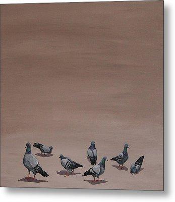 Pigeons Metal Print by Jennifer Lynch
