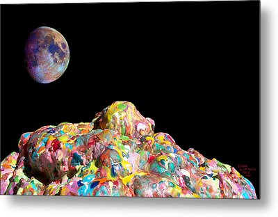 Pile Of Color In Space Two K O Four Metal Print by Carl Deaville