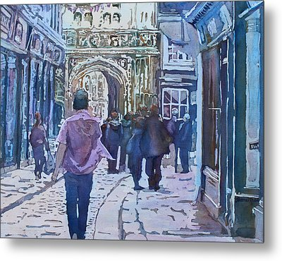 Pilgrims At The Gate Metal Print by Jenny Armitage