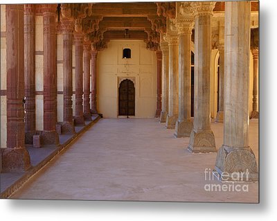 Pillars In Amber Fort Metal Print by Inti St. Clair