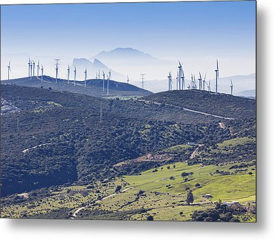 Pillars Of Hercules Seen From Casares, Spain. Metal Print by Ken Welsh