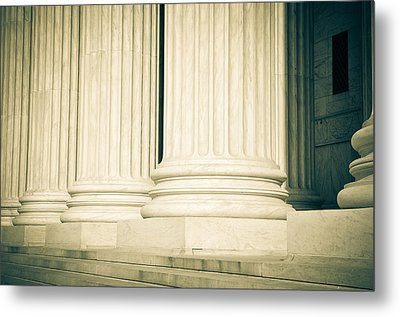 Pillars Of Law And Justice Us Supreme Court Metal Print