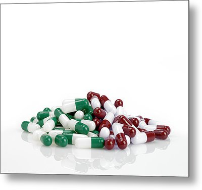 Pills Metal Print by Maria Toutoudaki
