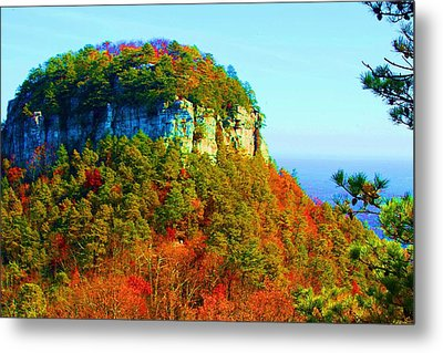 Metal Print featuring the photograph Pilot Mountain by Bob Whitt