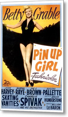 Pin Up Girl, Betty Grable, 1944 Metal Print by Everett