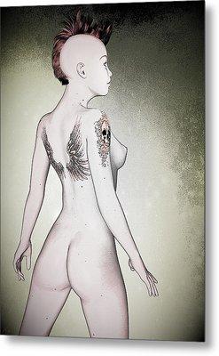 Metal Print featuring the digital art Pin-up No. 5 by Maynard Ellis