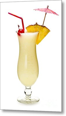 Pina Colada Cocktail Metal Print by Elena Elisseeva