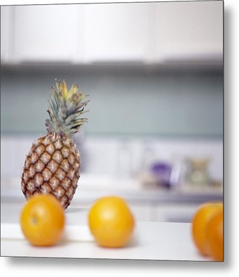 Pineapple And Oranges Metal Print by Cristina Pedrazzini