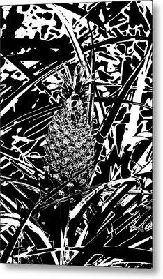 Pineapple  Metal Print by Elizabeth  Doran