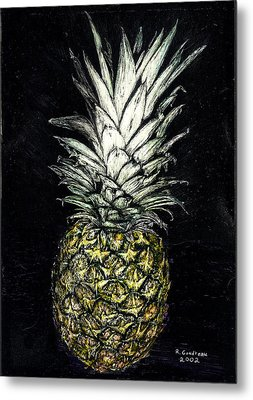 Pineapple Metal Print by Robert Goudreau