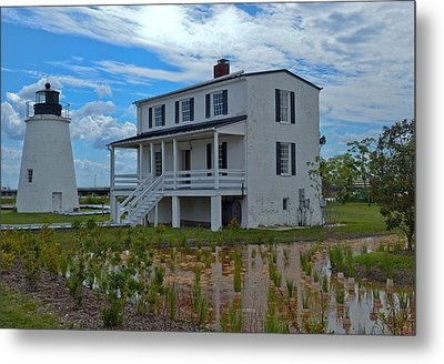 Piney Point Lighthouse Metal Print by Kelly Reber