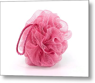 Pink Bath Puff Metal Print by Blink Images