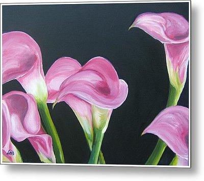 Pink Calla Lily's Metal Print