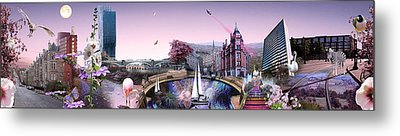 Pink City Metal Print by Emily Campbell