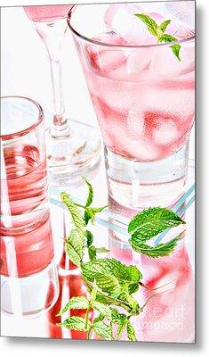 Pink Cocktails Metal Print