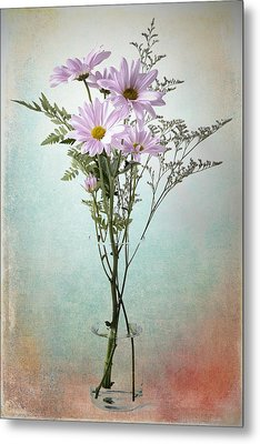 Metal Print featuring the photograph Pink Daisy by James Bethanis