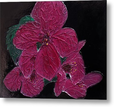 Pink Flowers Metal Print by Angela Stout