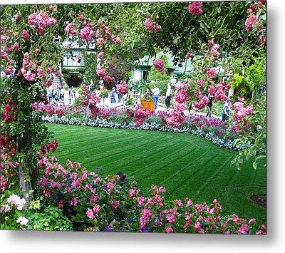 Pink Garden Metal Print by Kathy Long