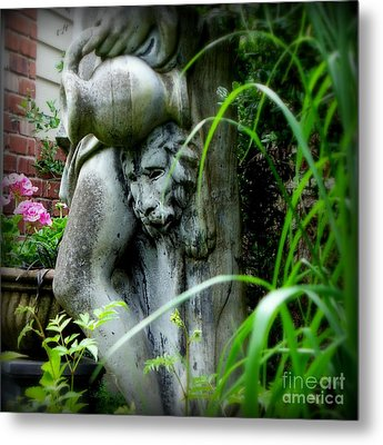 Metal Print featuring the photograph Pink Geraniums And Bacchus by Tanya  Searcy