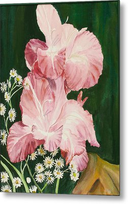 Pink Glad Metal Print by Judy Loper