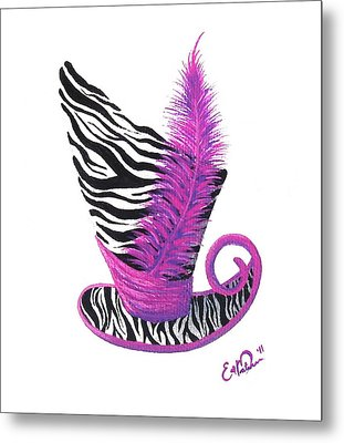 Pink Magic Hat Metal Print by Oddball Art Co by Lizzy Love