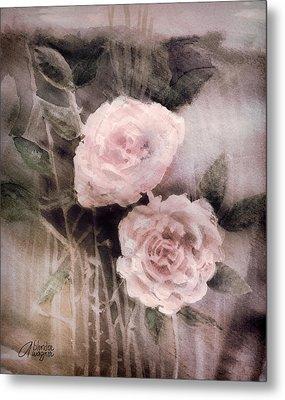 Pink Roses Metal Print by Arline Wagner