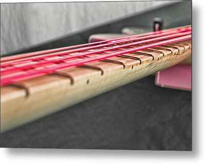 Pink Strings Metal Print