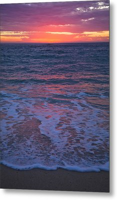 Pink Sunset Metal Print by Serene Maisey
