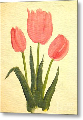 Pink Tulips Metal Print by Leea Baltes