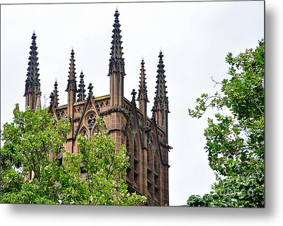 Pinnacles Of St. Mary's Cathedral - Sydney Metal Print by Kaye Menner