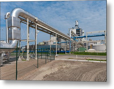 Pipeline Construction Metal Print by Hans Engbers