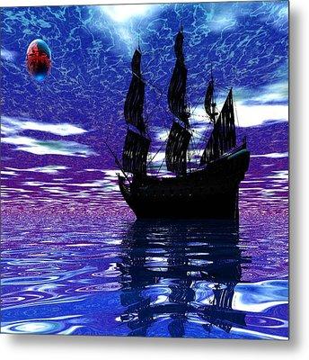 Pirate Ship Metal Print by Matthew Lacey