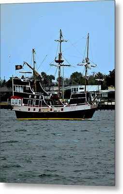 Pirate Ship Of The Matanzas Metal Print by DigiArt Diaries by Vicky B Fuller
