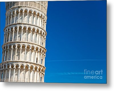 Metal Print featuring the photograph Pisa Leaning Tower by Luciano Mortula
