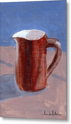 Metal Print featuring the painting Pitcher by Lou Belcher