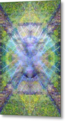 Metal Print featuring the digital art Pivortexspheres In Chalicell Garden Of Light by Christopher Pringer